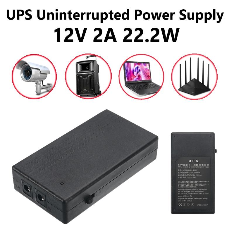 12V 2A 22,2 W UPS Unterbrechungsfreie Liefern 111x60x26mm Backup Power Mini Batterie Für kamera Router