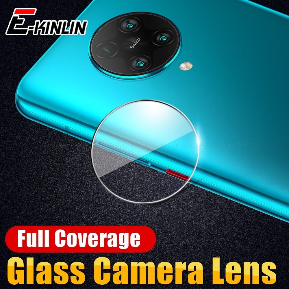 Lente de cámara trasera de vidrio templado transparente Protector de pantalla trasera para XiaoMi Pocophone Poco X2 F1 F2 Pro Mi A3 A1 A2 Lite Play