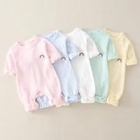 baby clothes baby gauze cute baby romper climbing suit rainbow newborn baby cotton autumn jumpsuit