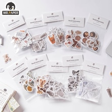 Mr.paper 40 Pcs/bag 8 Designs Ins Style Small Items Series Cute Little Stickers Hand Account DIY Material Decoration Stickers