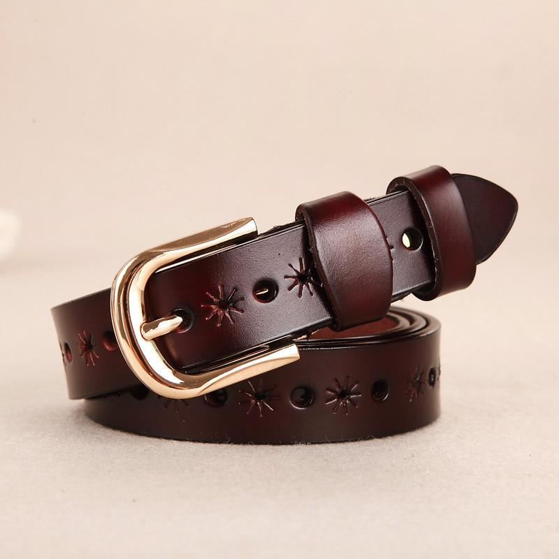 second layer пиджак 2021 New Leather Ladies Belt with Body Hollow  Fashion All-match High Quality Cowhide Second Layer Waistband