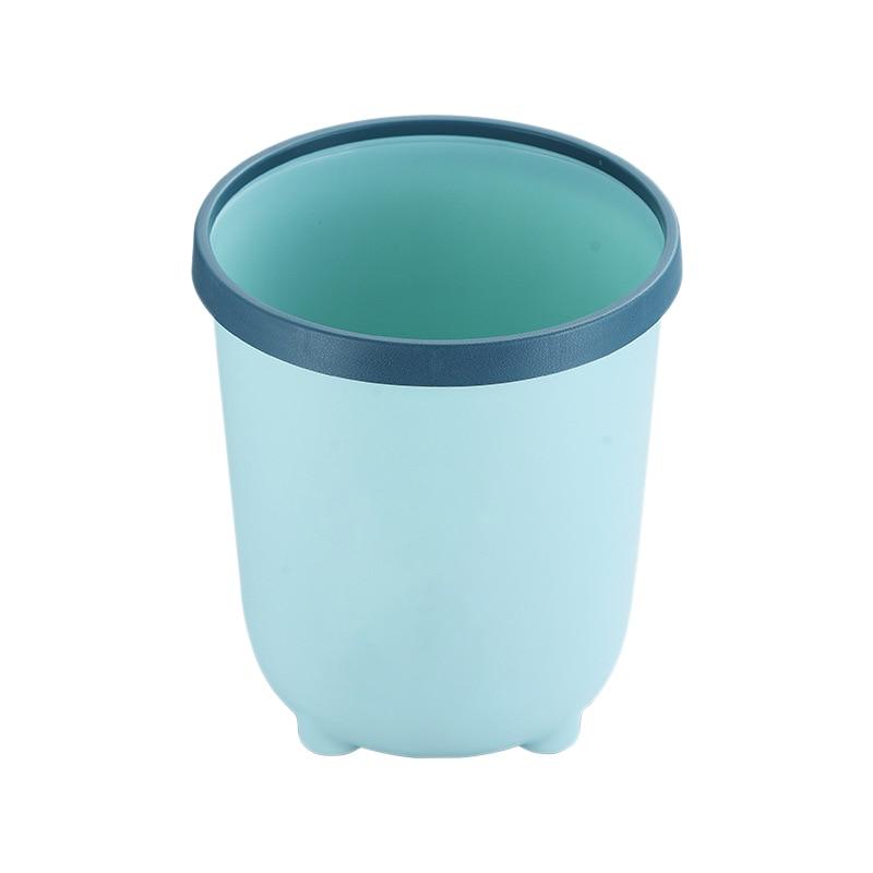 Simple Pressure Circle Trash Can Home Living Room Cute Girl Trash Can Bedroom Toilet Toilet Paper Basket