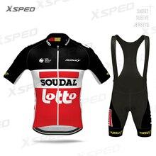 Pro Team Clothing SOUDAL LOTTO Aero 2020 Cycling Jersey Set Men Short Sleeve MTB Clothes Race Bike Uniform Suit Triathlon Summer