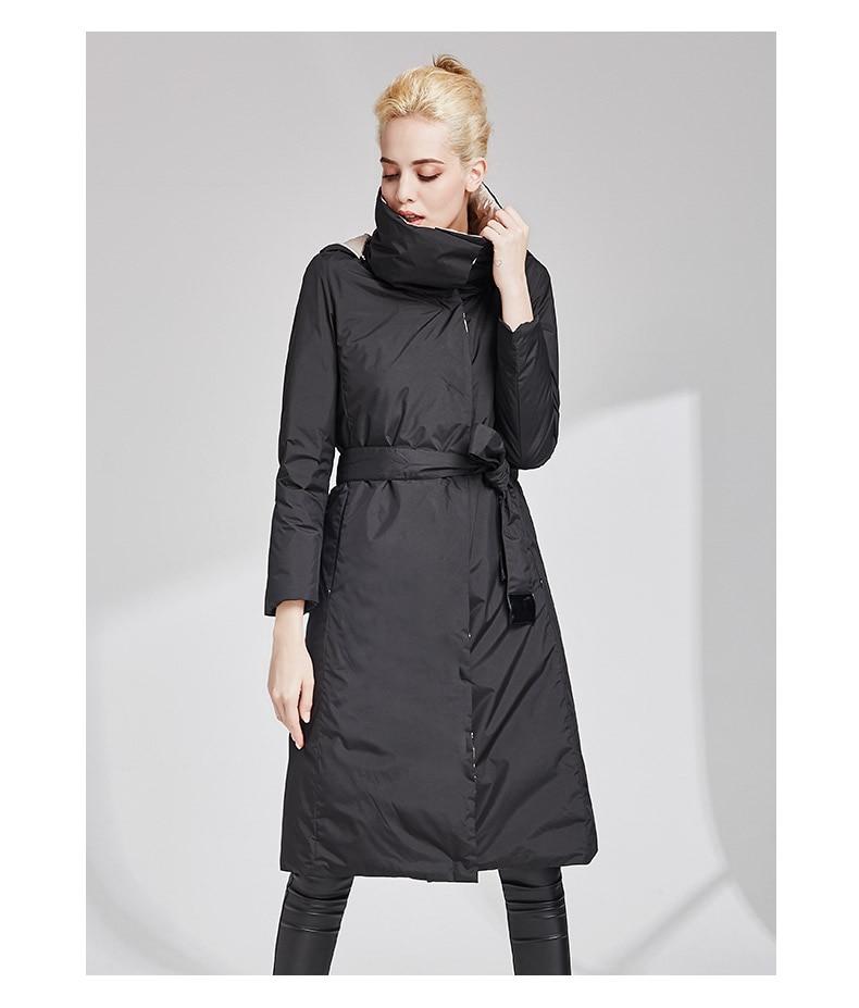 جديد وصول المرأة معطف أسفل السترات ملابس أنيقة على كلا الجانبين سترة واقية الشتاء والخريف