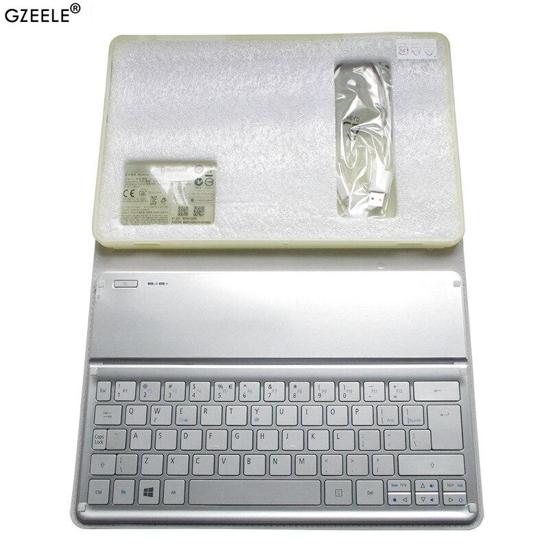 GZEELE جديد ل أيسر W700 W701 P3-171 P3-131 KT-1252 لوحة المفاتيح الفضة الولايات المتحدة تخطيط واي فاي بلوتوث لوحة المفاتيح 11