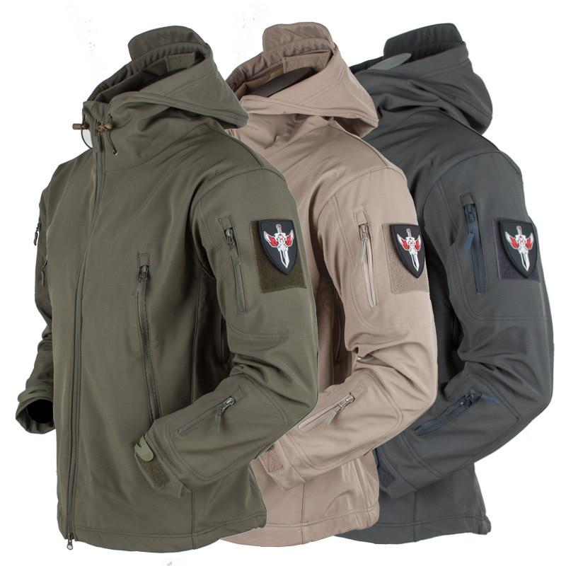 Soft Shell одежда, тактическое снаряжение ветрозащитный Водонепроницаемый куртка мужская летная куртка пилота капюшон пальто Военная Полевая ...
