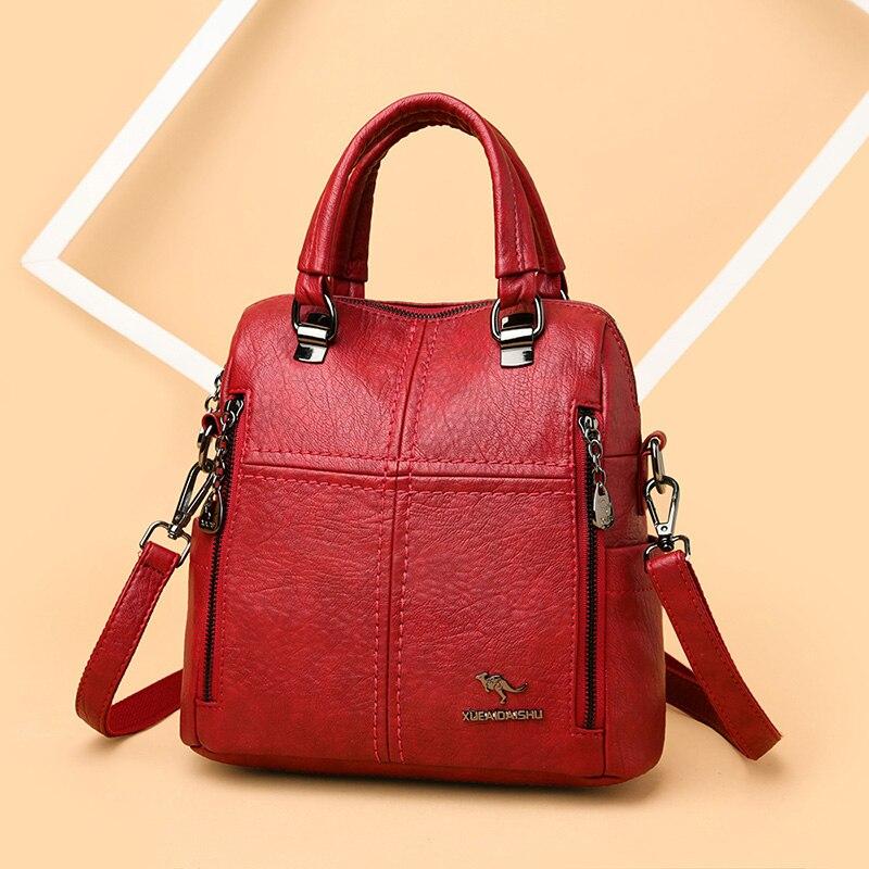 حقيبة ظهر من الجلد الناعم غير رسمية للنساء 2021 حقيبة كتف صغيرة متعددة الوظائف على ظهره حقائب مدرسية للمراهقين الفتيات كيس
