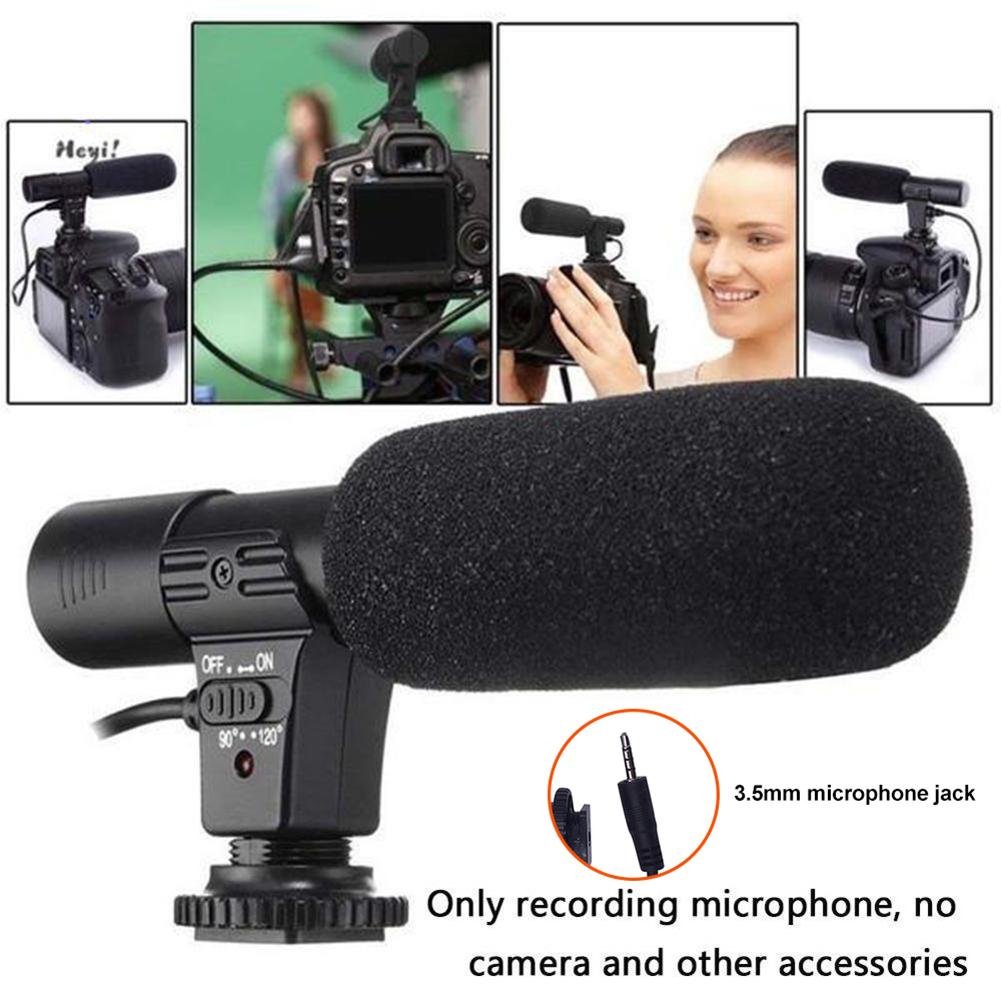 Stereo Aufnahme Mikrofon VLOG Fotografie Interview Digital Video Aufnahme Mikrofon für Nikon Canon DSLR Kamera