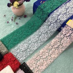 Estiramento warp tricô laço colorido, acessórios de vestuário, artesanato diy, modelo c1103