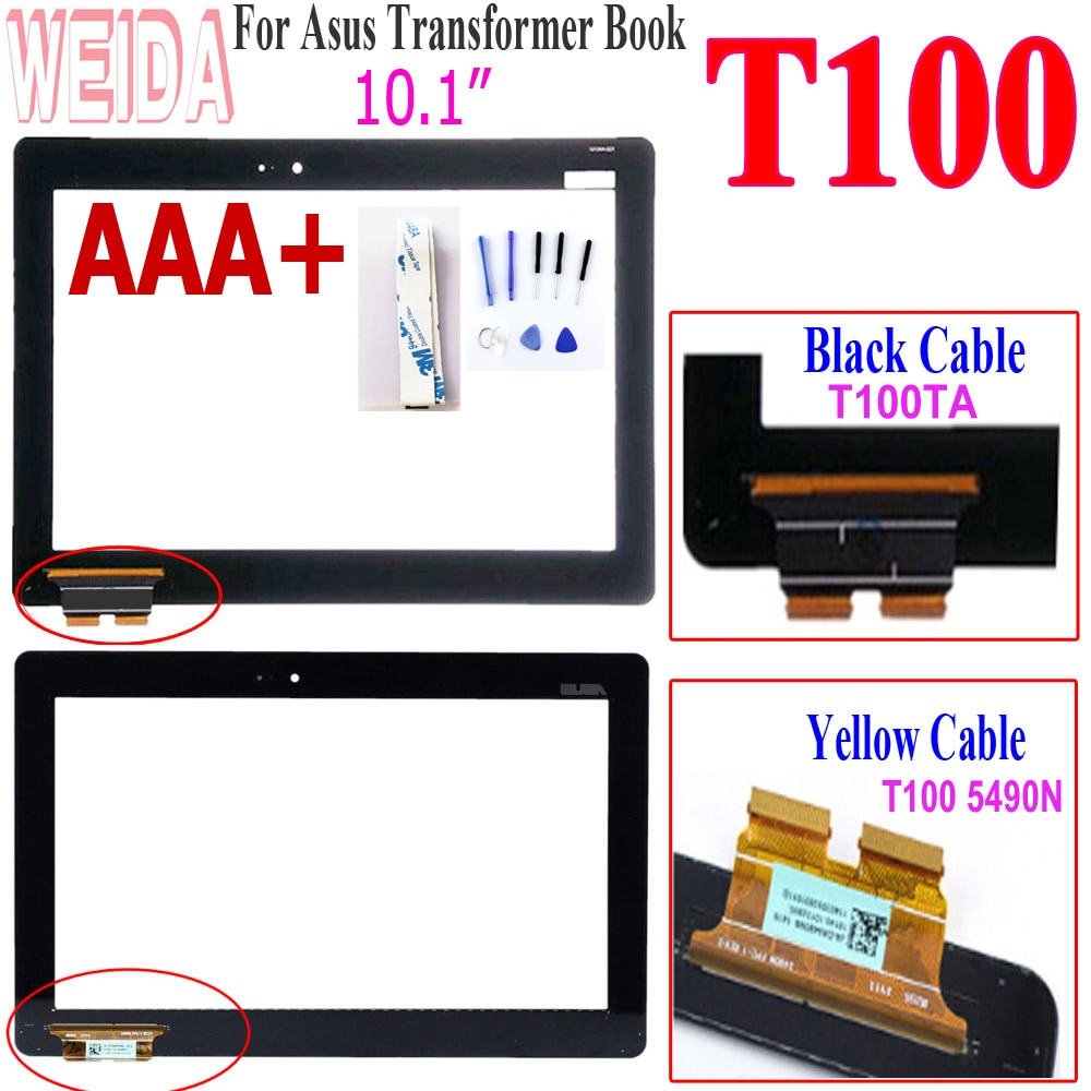 10.1 For Asus T100 Touch Screen digitizer Panel Replacement for Asus Transformer Book T100 T100TA 5490N B101XAN02.0 Touch