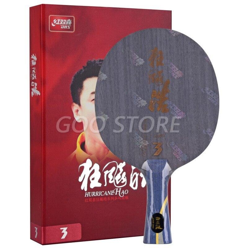 DHS Table Tennis Blade Hurricane Hao 3 Wang Hao 4+1 Glass Carbon ping pong racket bat paddle tenis de mesa