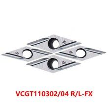 VCGT110302 VCGT110304 R-FX L-FX VCGT110302R-FX T1500A T1200A Carbure Inserts VCGT 110302 110304 Tour Coupe CNC 100% Dorigine