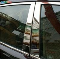 For Mazda CX7 CX-7 2007-2011 Stainless Steel Car Window Pillar Post Cover Strip Trim Sticker B Pillars Trims Accessories