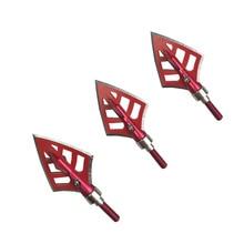 6 pièces tir à larc 4 lames têtes larges 125 Grain flèche flèche pointes flèche Points chasse tir accessoires