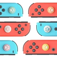 cute cat paw claw thumb stick grip cap joystick cover for nintend switch lite ns joy con controller gamepad thumbstick case