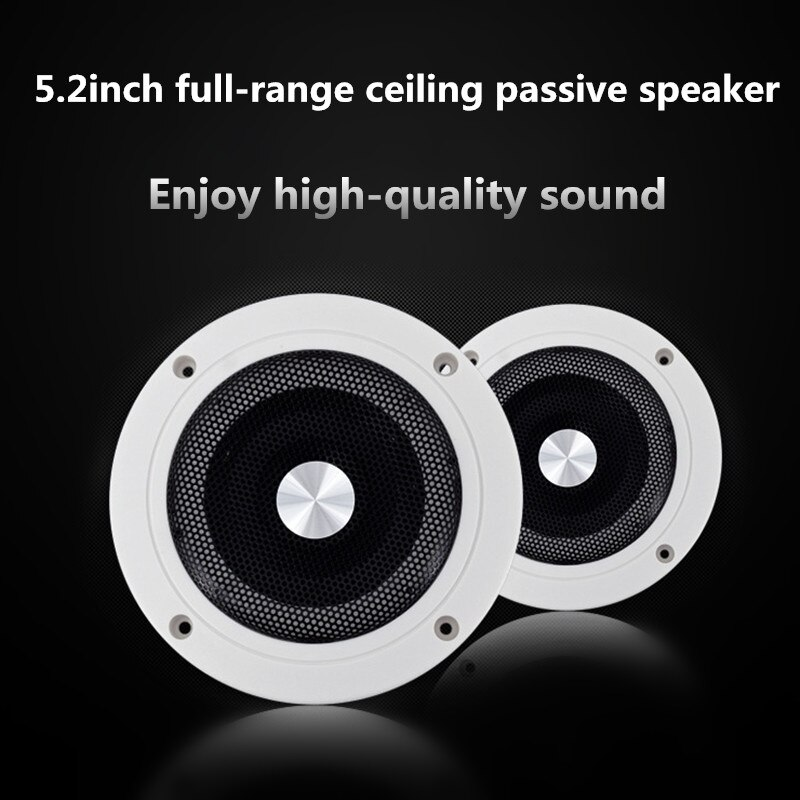 Ceiling Speaker In-Wall Home Audio System 5.2inch 15W Round Flush Mount Speaker For Public Broadcast Background Music W450