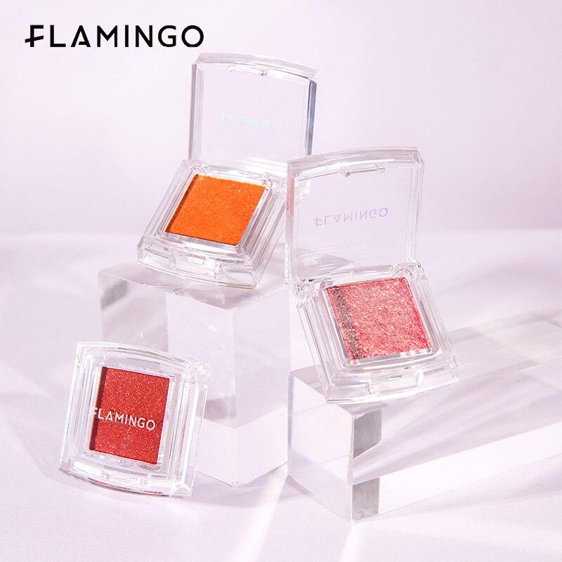 FLAMINGO Single Color Eye Shadows Palette Make-up Shiny Sequins Matte Pearl Highlight Makeup Eyeshadow Palette Cosmetics