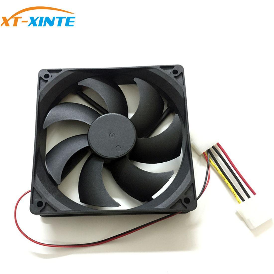 XT-XINTE portátil de refrigeración refrigerador ventilador DC12V 4Pin computadora disipador CPU silencio carcasa del ventilador de enfriamiento 8cm 9cm 12cm