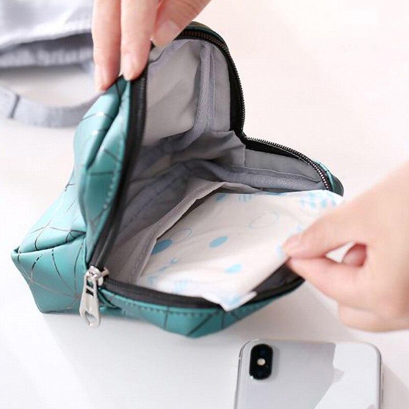 Mini bolsa sanitaria de almacenamiento de toallas Nueva Bolsa portátil impermeable de viaje de transporte de almacenamiento monedero Dropshipping