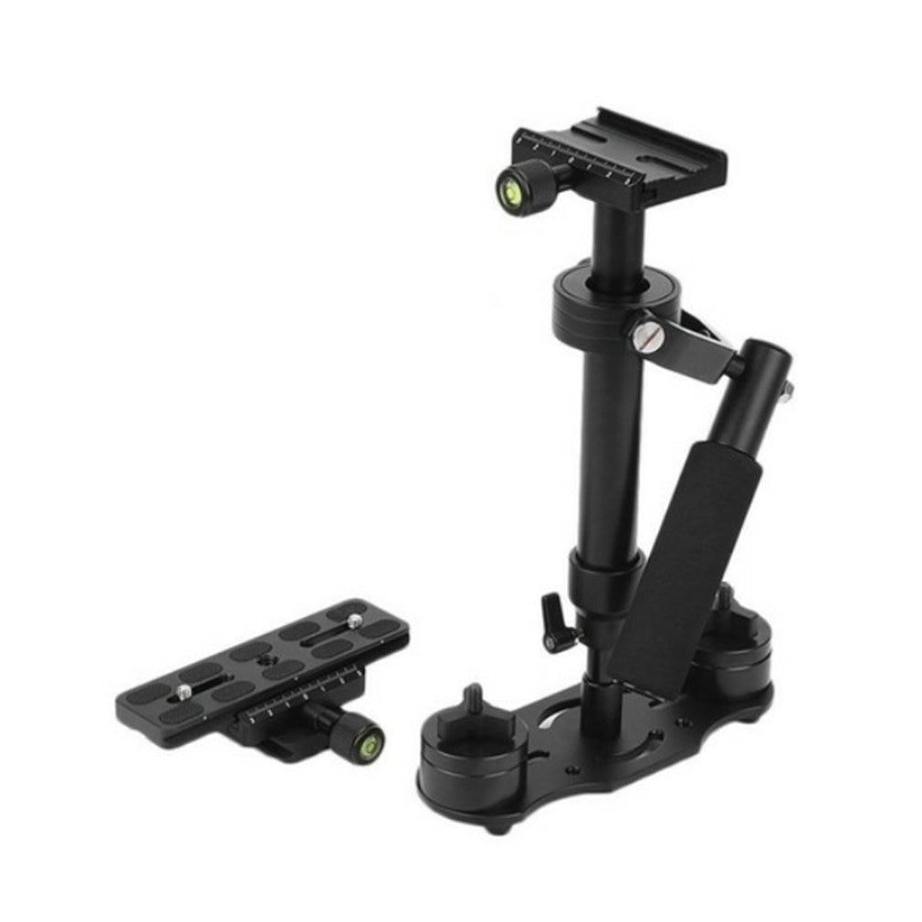 S40 lidar com estabilizador handheld estabilizador fotografia vídeo liga de alumínio 40cm único handgrip 1/4 parafuso preto 18.5*7cm 2.5cm