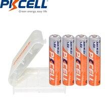 4 шт. PKCELL AAA батарея 900mWh 1,6 V Ni-Zn перезаряжаемые батареи nizn перезаряжаемые AAA + 1 шт. чехол для батареи AA AAA