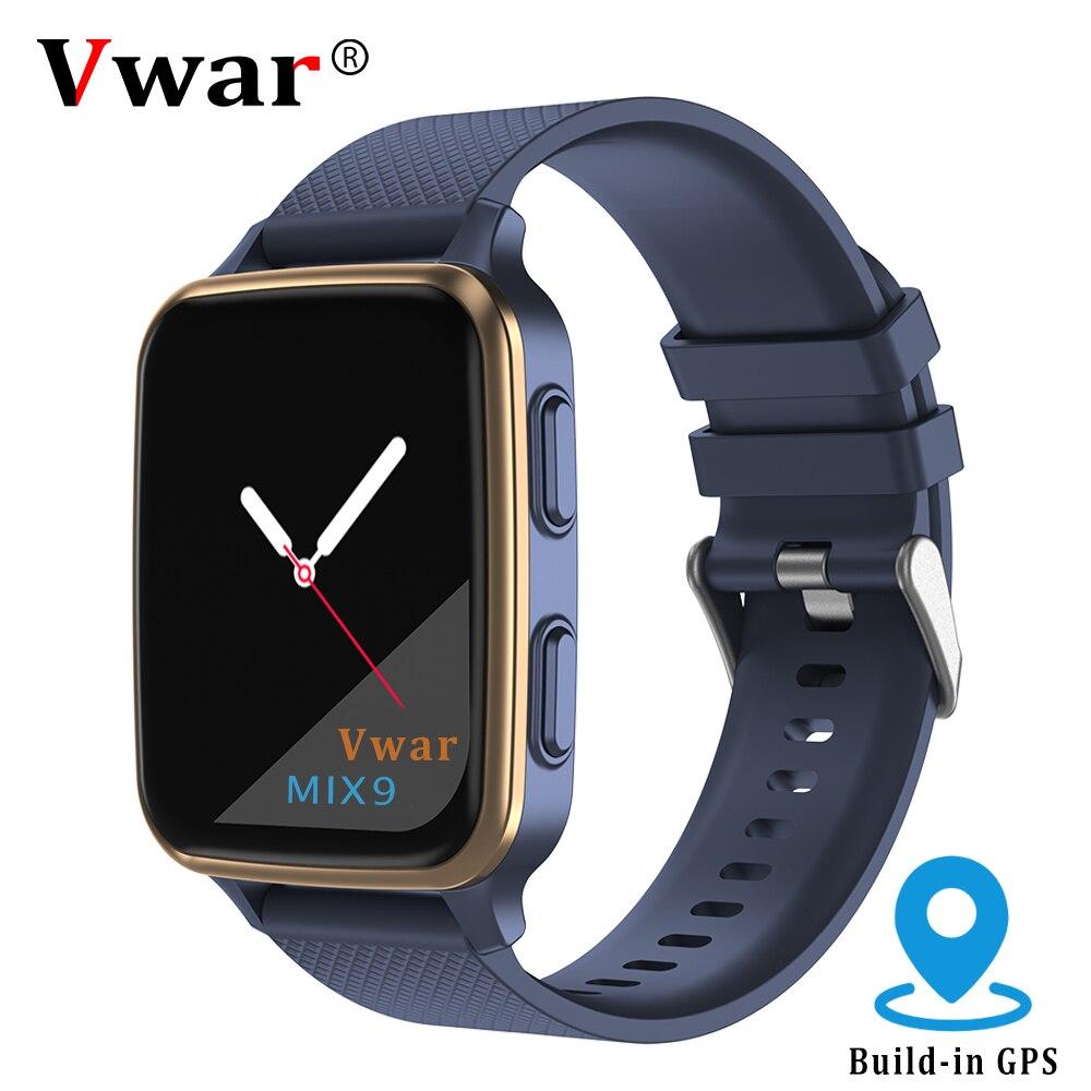 Vwar MIX9 GPS ساعة ذكية درجة حرارة الجسم ضغط الدم SpO2 Smartwatch الرجال مراقب معدل ضربات القلب النساء جهاز مراقبة اللياقة الرياضية