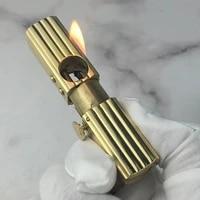 brass automatic bounce ignition oil lighter world war i vintage gasoline flint lighter safety screw collection gadgets for man