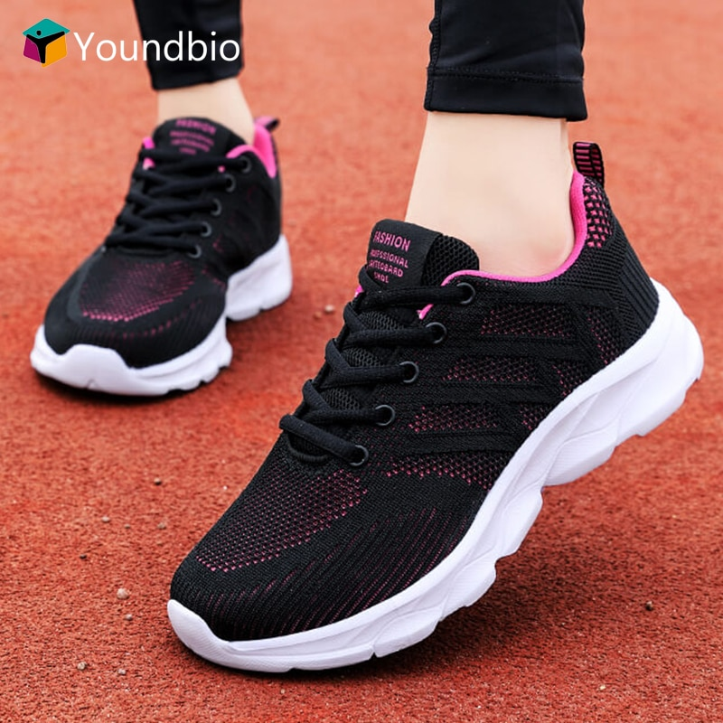 Спортивные беговые кроссовки YOUNDBIO 2021, женские удобные повседневные Прогулочные кроссовки, женские дышащие кроссовки из сетчатого материал...