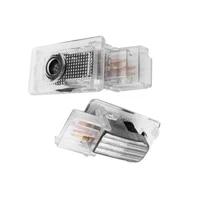 2pcs auto door welcome light led logo laser projector decor lamps for cadillac ats srx xts sxt xt4 xt5 ct6 car accessories