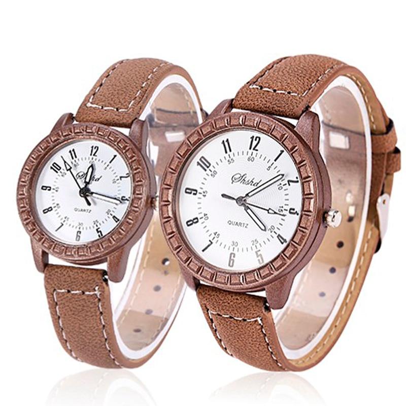 Fashion Women Watches Ladies Watches Leather Band Quartz Wristwatches Couple Watches horloge dames h