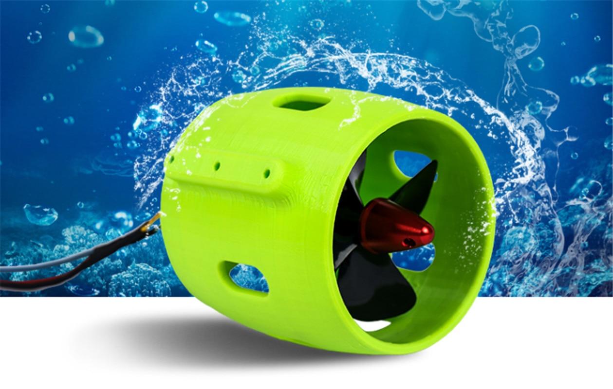 مروحة روبوت تحت الماء ، 12-24 فولت 30-200 واط ، نموذج سفينة متداخلة ، قارب سحب شبكي ، قارب إنقاذ ، مروحة روبوت تحت الماء