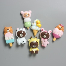 Mini Refrigerator Magnets Cute Animals Magnetic Sticker Home Decoration Fridge Blackboard Cabinet Man Girl Boy Kids Toy Gifts
