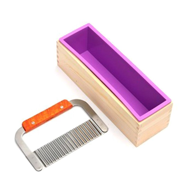 Silikon seife formen kit kit-42 unzen Flexible Rechteckige Loaf Kommt mit Holz Bo seife machen liefert
