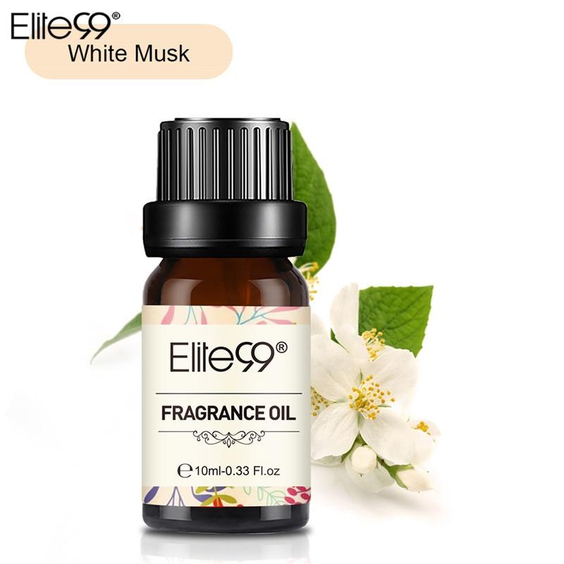 Aceite de fragancia de almizcle blanco Elite99 de 10ML, difusor de aceites esenciales puros de frutas y flores para relajación, lámpara de aire fresco masaje100 % Natural Relax