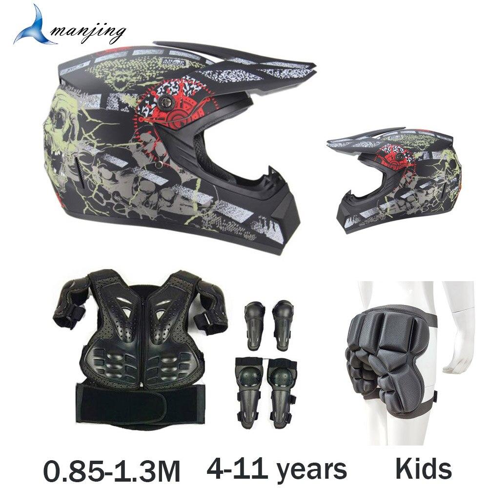 Niño Latka Youth Motocross moto Body Armor Riding Cycling chaleco armor rodilla codo Guard niños fuera de carretera Motocross equipo