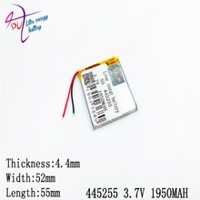 Liter energy battery polymer lithium  445255 3.7V 1950MAH 405055 electronic products MP4 MP5 GPS DVD