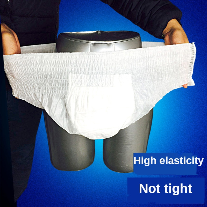 15Pcs Adult Diapers Safety Pants Disposable General Waterproof Men and Women Middle-Aged Elderly Leak-Proof High Elasticity