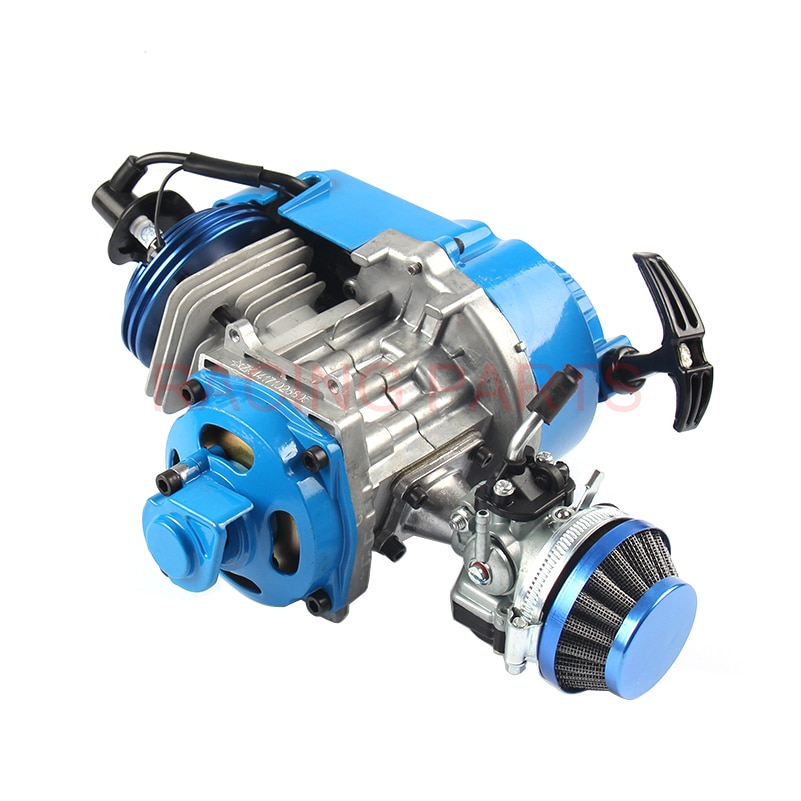 49CC двигатель алюминиевый Потяните старт 15 мм Карбюратор с ЧПУ головка воздушный фильтр Мини Мото Карманный ATV Quad Багги грязи велосипед ямы с...