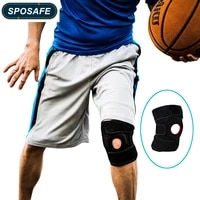 1pc knee brace support sleeve adjustable open patella stabilizer protector nylon wrap for arthritis meniscus tear outdoor sports