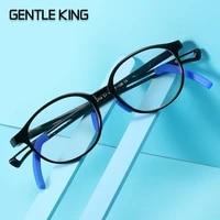 gentle king blue light glasses for kids computer video gaming glasses frame tr90 flexible children boys girls eye protection