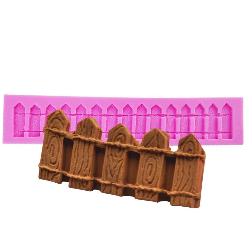 DIY cerca forma molde de pastel de silicona fondant para modelar la cocina moldes para Chocolate golosinas no chocolateadas para hornear herramientas