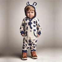 3 18 months baby boy girl rompers fashion lightning print cotton long sleeve jumpsuit newborn toddler baby clothes outfits