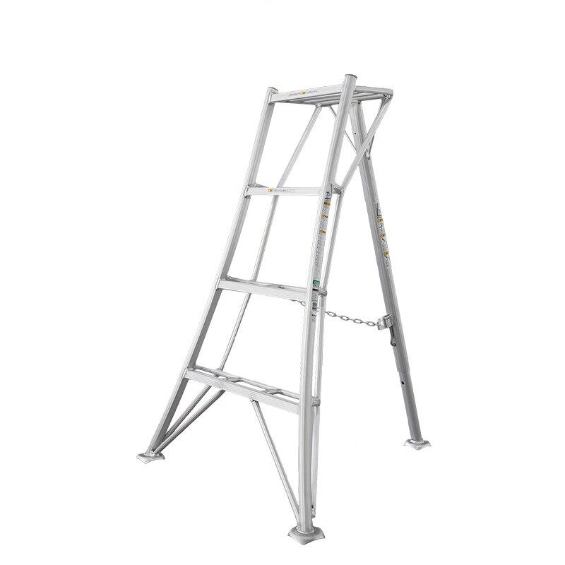 Escalera plegable antideslizante para jardín Hasegawa, escalera portátil ligera de aluminio para trabajos de jardín de alta calidad