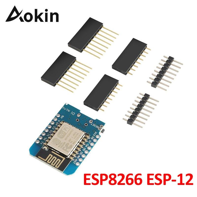 ESP8266 ESP-12 ESP12 Wemos D1 Mini módulo wemos d1 WiFi Placa de desarrollo Micro USB 3,3 V basado en ESP-8266EX 11 pin Digital