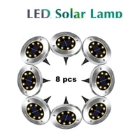 2 8pcs 8 led solar garden lights outdoor waterproof garden pathway deck led lights lamp for home yard driveway lawn road smart o