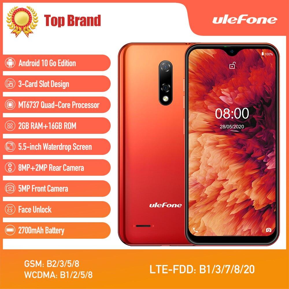 Смартфон Ulefone Note 8P на Android 10, 4G, 2 + 16 ГБ, 5,5 дюйма, четыре ядра, камера 8 МП