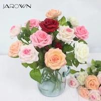 JAROWN     roses artificielles en Latex  34cm  fausses fleurs  pour decorer la maison  pour un mariage  pour un nouvel an