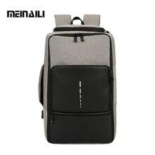 Meinaili 새로운 남자 배낭 대용량 나일론 다시 팩 다기능 여행 배낭 usb 비즈니스 unisex 노트북 bagpack