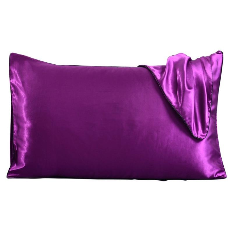 Útil Para el cabello y la piel con cierre de sobre Queen 20X30 pulgadas Juego de 2 fundas de almohada de seda imitada