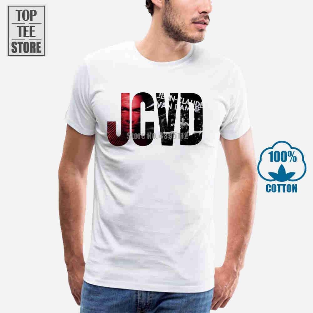 Logotipo Jean Claude Van Damme Jcvd Branco T Camisa Top Homens E Crianças Tamanhos Orgulho Tee Tops Streetwear Camiseta homens